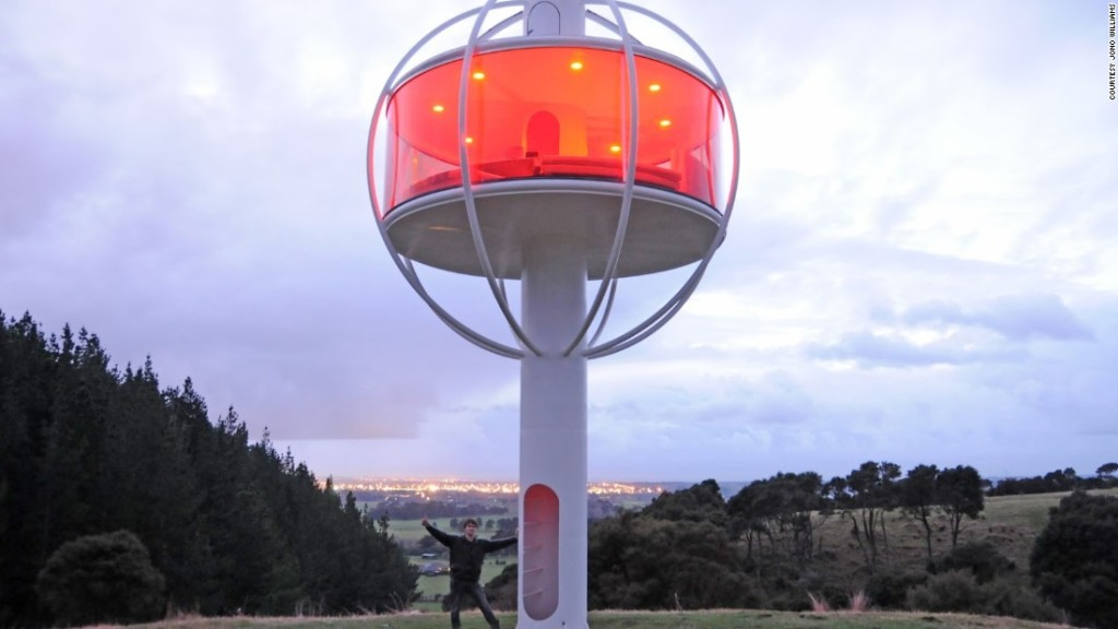 This voice-activated, solar-powered treehouse will even serve you a beer