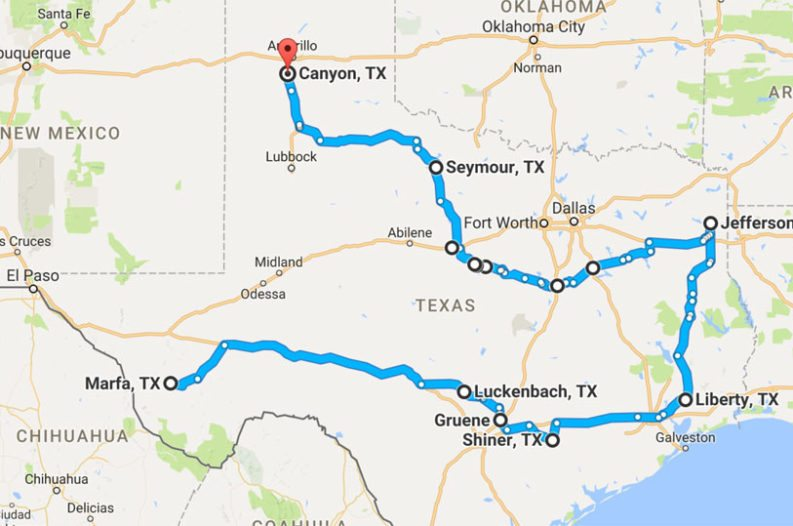 The Ultimate Small Town Texas Road Trip Map – Ar†stråda magazine – A ...